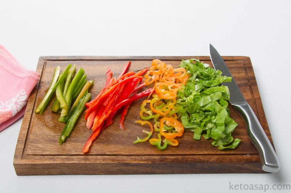 cut lettuce bell peppers jalapeno