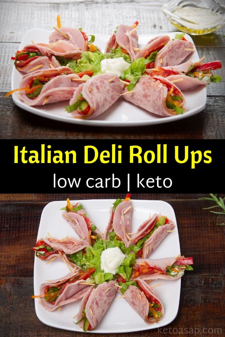 Keto Italian Sub Lunch Meat Roll Ups