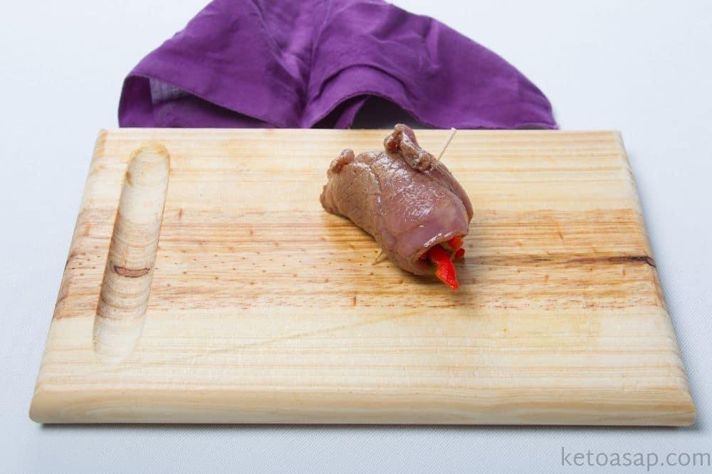 roll steak slices