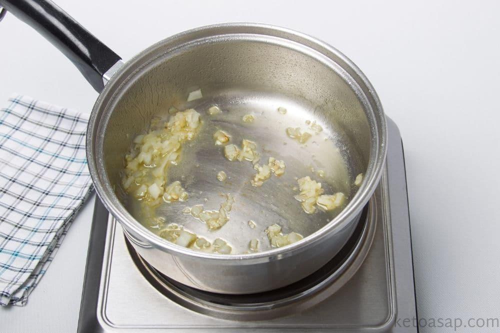 saute minced garlic onion