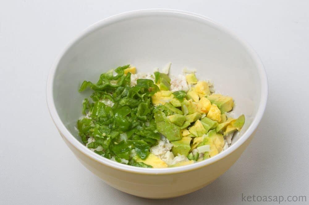 combine enchilada green sauce