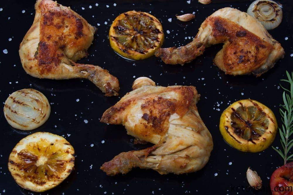 bake chicken on low heat