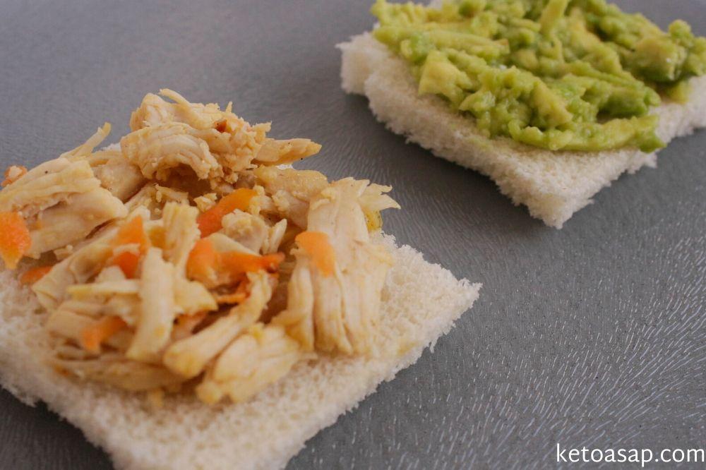 chicken avocado almond flour bread