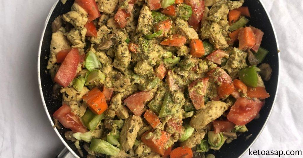 chicken stir fry pistachio sauce
