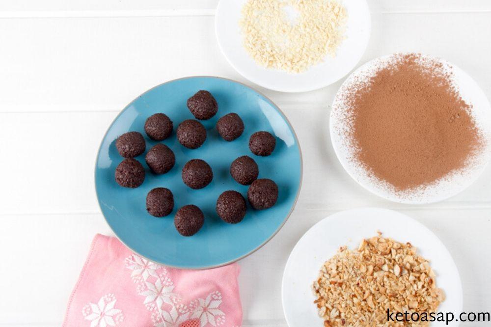 chop nuts chocolate avocado truffles