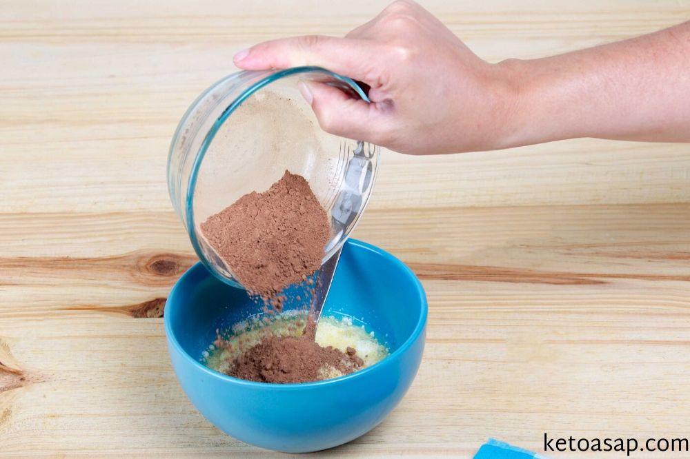 cocoa powder mug cake