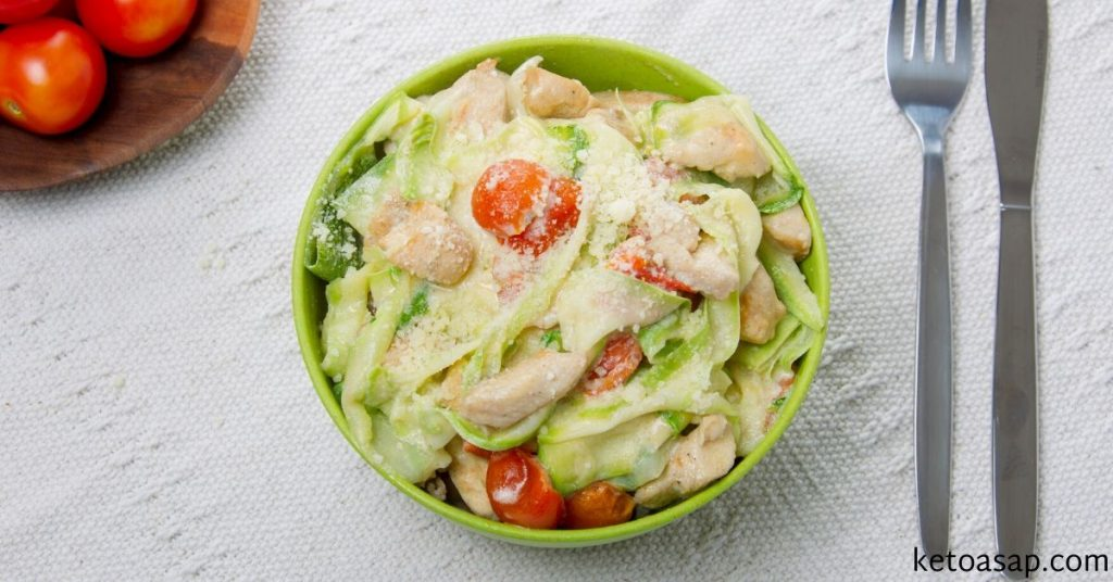 creamy tomato basil zucchini