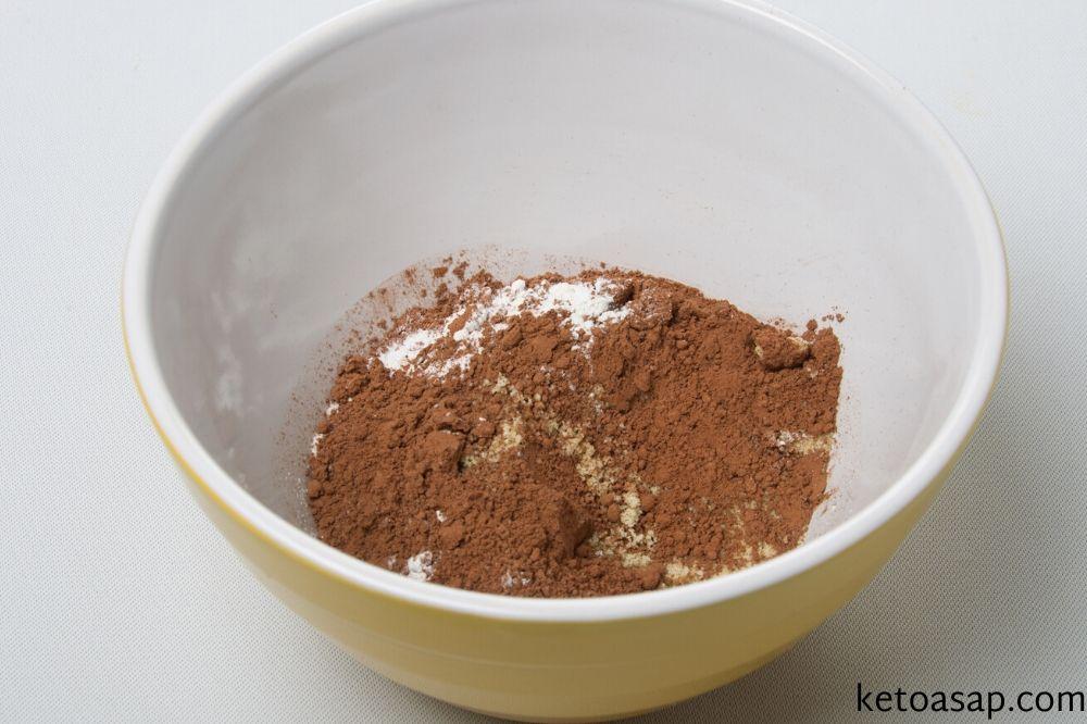 dry ingredients pumpkin brownie