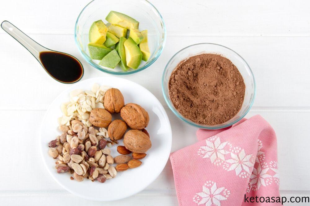 ingredients chocolate avocado truffles