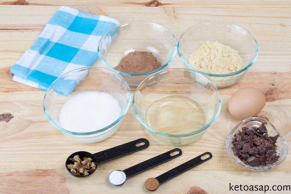 ingredients chocolate mug cake