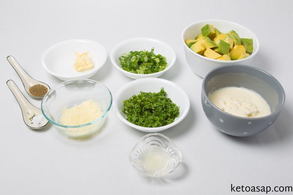 ingredients creamy avocado soup