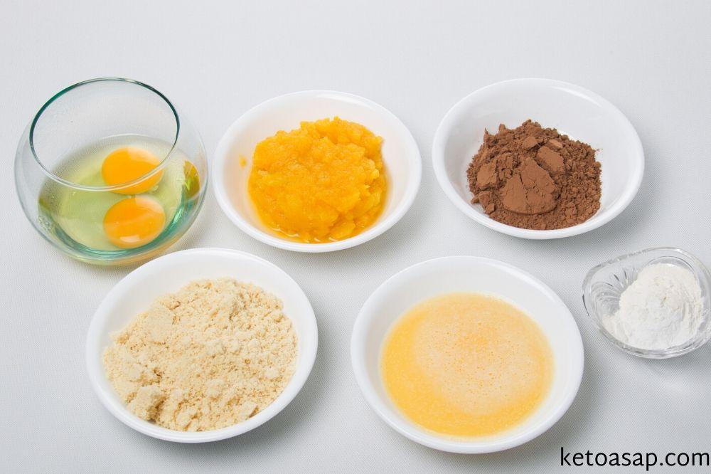ingredients pumpkin brownies