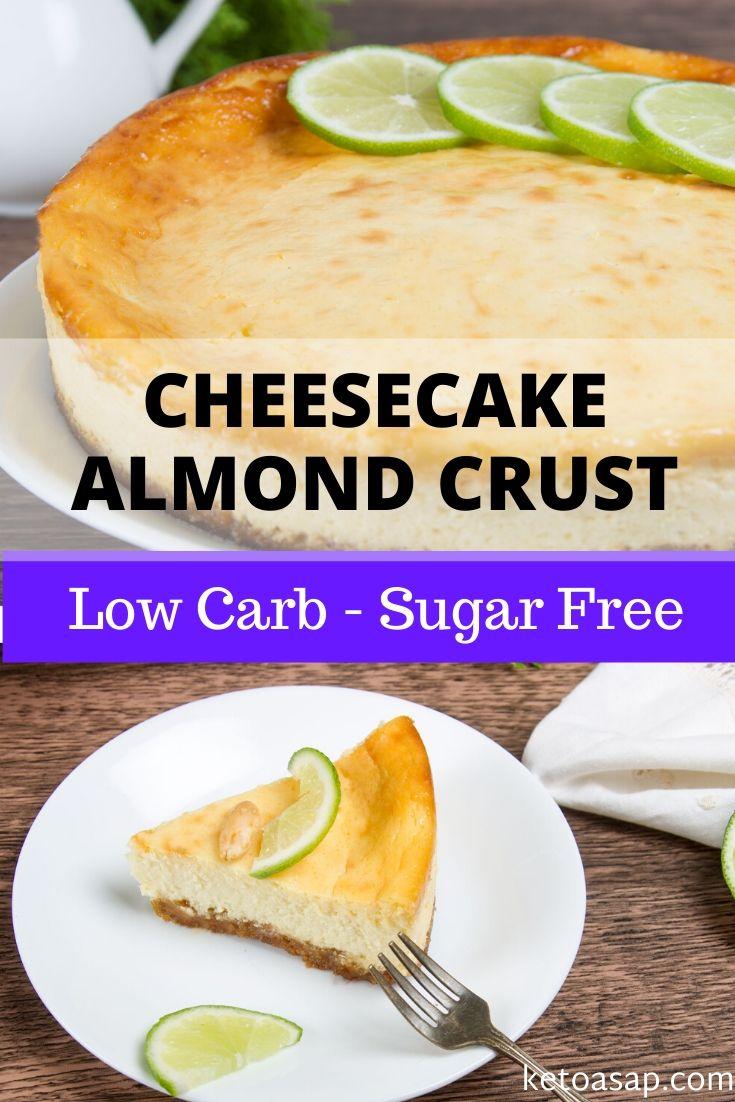 keto cheese cake almond crust