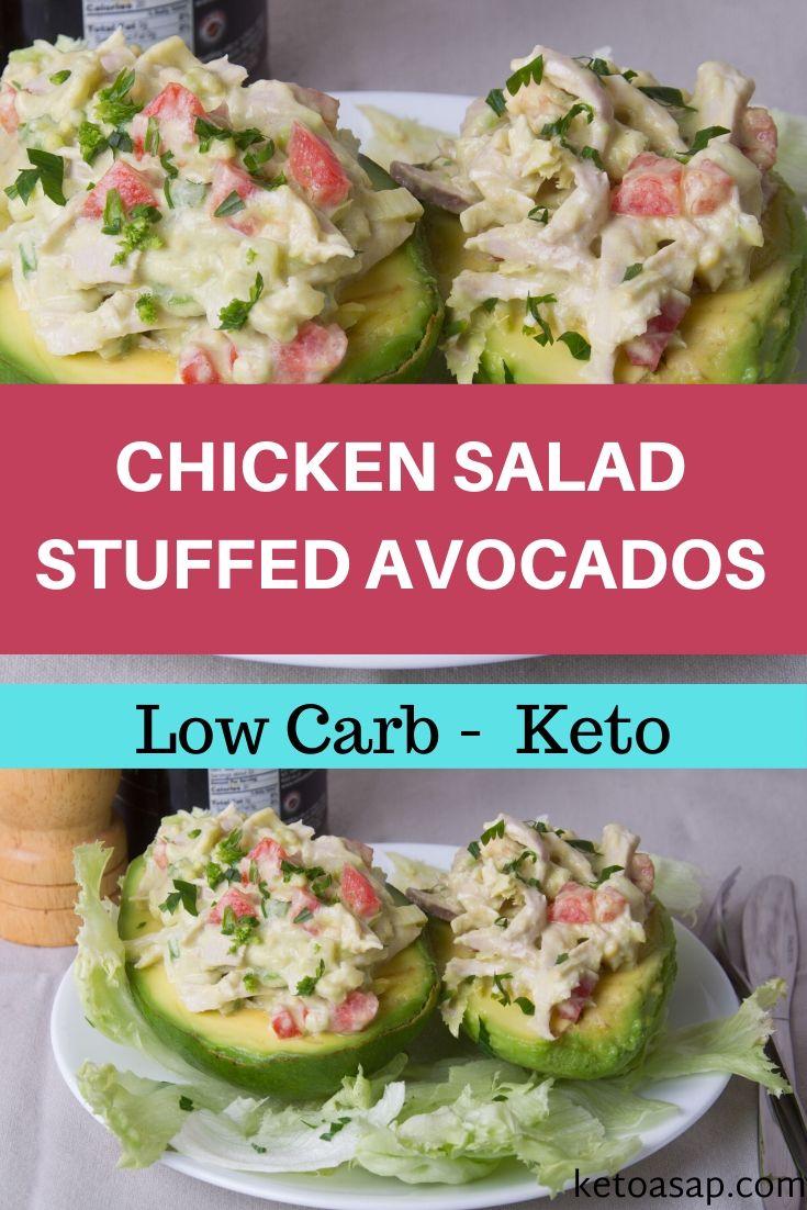 keto chicken salad stuffed avocados