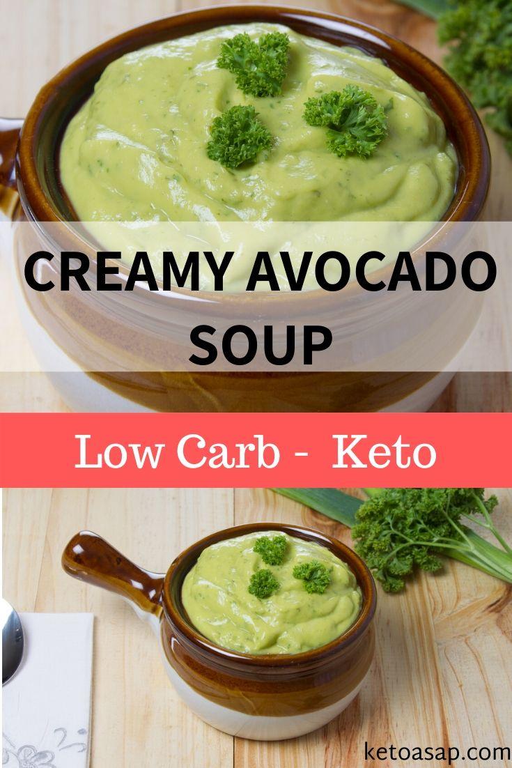 keto creamy avocado soup