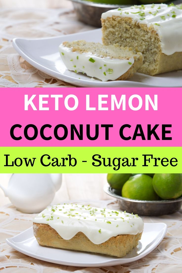 keto lemon coconut cake