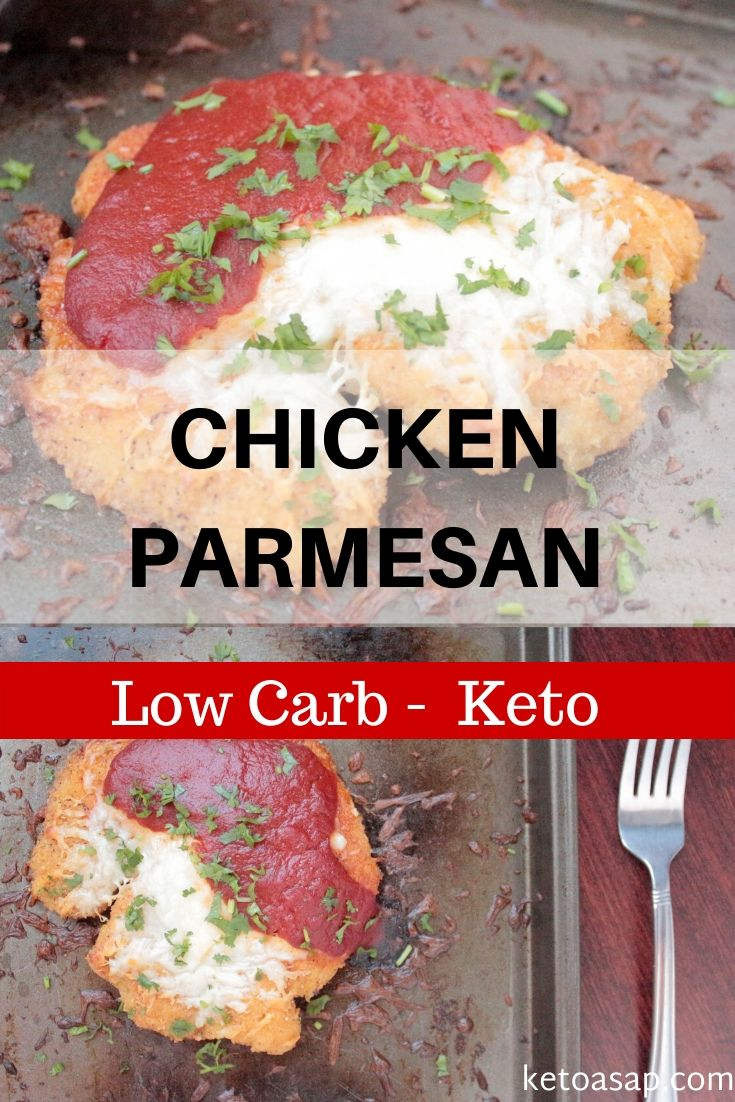 keto low carb chicken parmesan