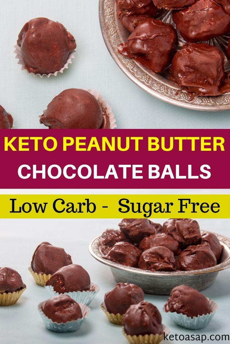 keto peanut butter chocolate balls