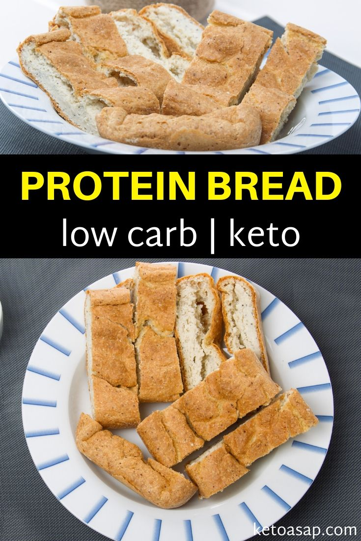 Prepare a low carb bread that doesn't break the laws of a ketogenic diet. With a chewy interior and a crispy crust, this is a no fail recipe the whole family will love. #ketobread #ketobaguette #ketobreadrecipe #lowcarbbread #lowcarbketobaguette #ketorecipe #ketorecipeideas #ketoideas #lowcarbrecipes #lowcarbketomeals #easyketomeals #simpleketorecipes