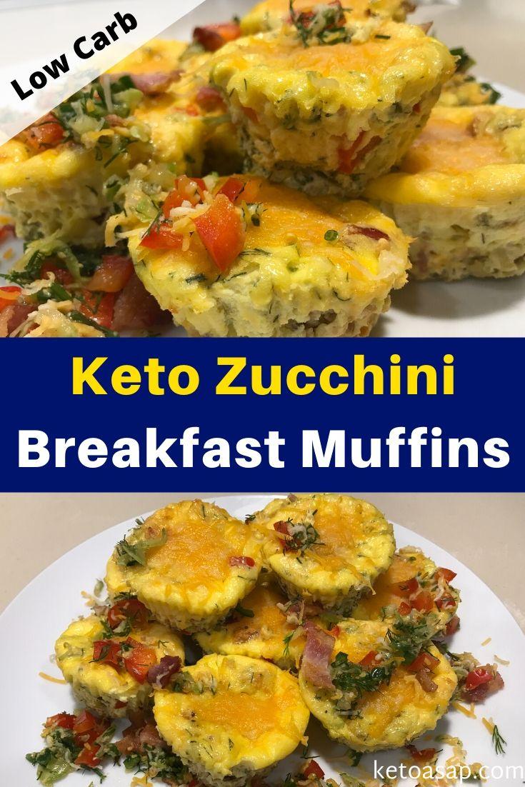 keto zucchini breakfast muffins