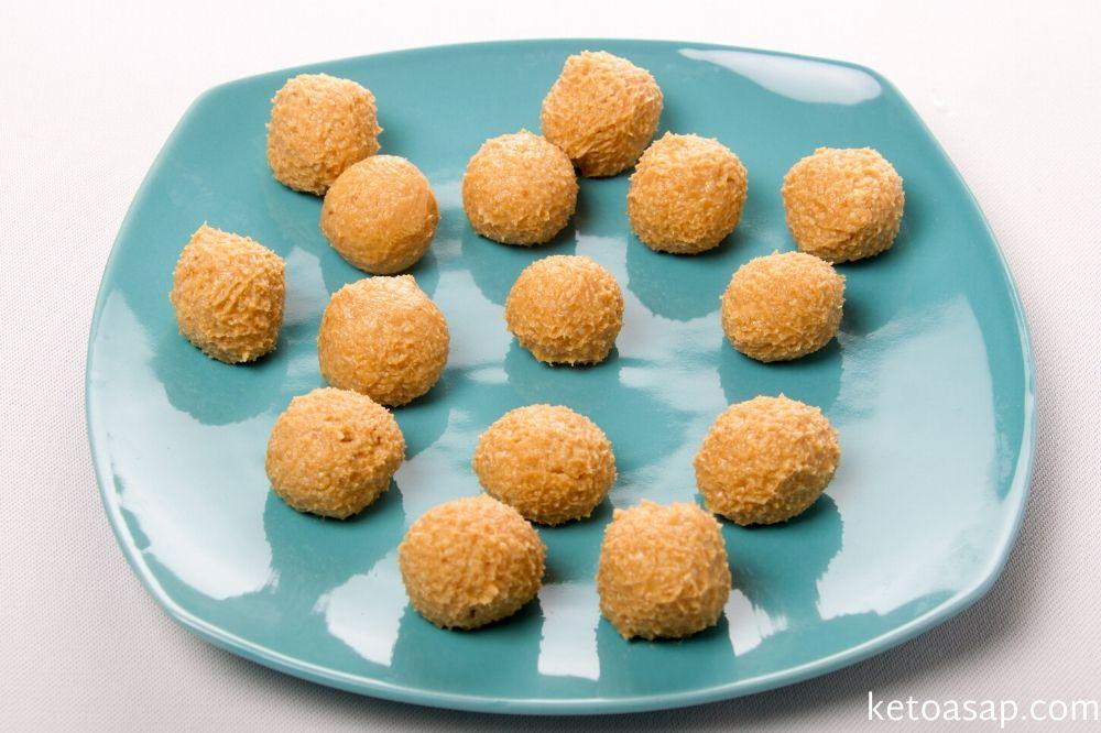 mold peanut butter balls