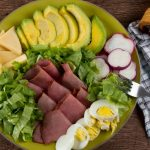roast beef egg avocado salad bowl