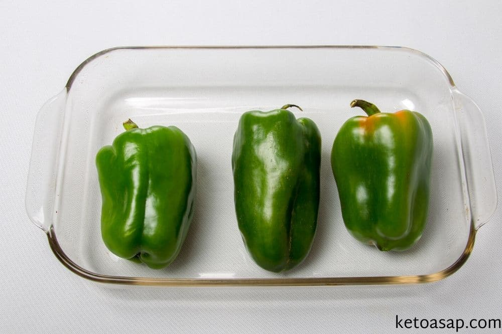 rub peppers with olive oil bake in oven