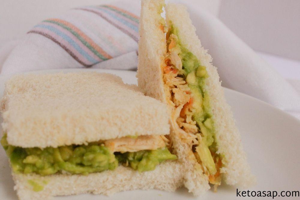 serve almond flour chicken sandwich