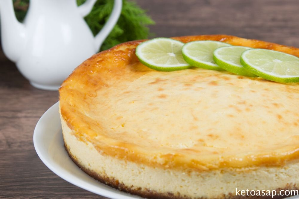 serve cheesecake almond crust