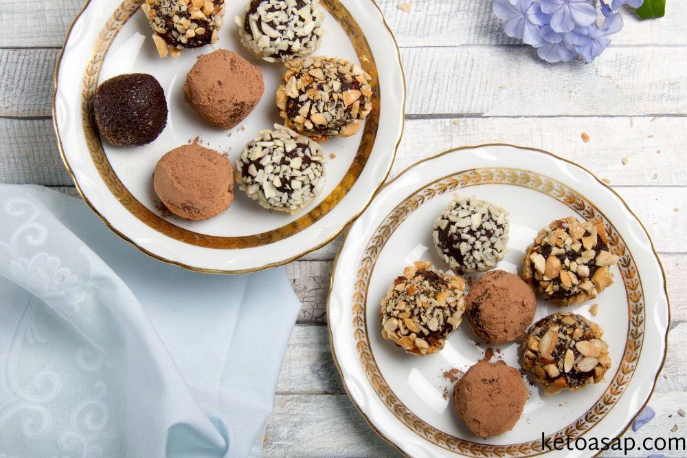serve chocolate avocado truffles
