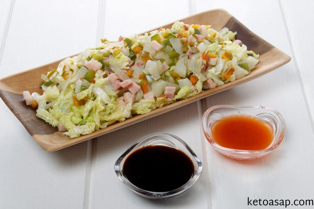 serve fried cabbage