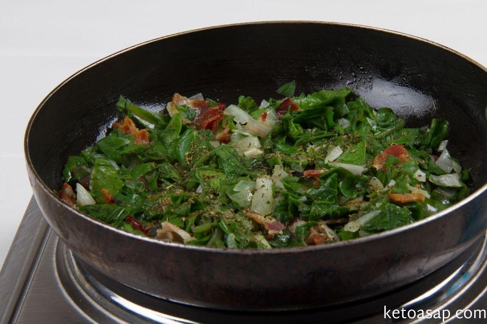 spinach for spaghetti squash
