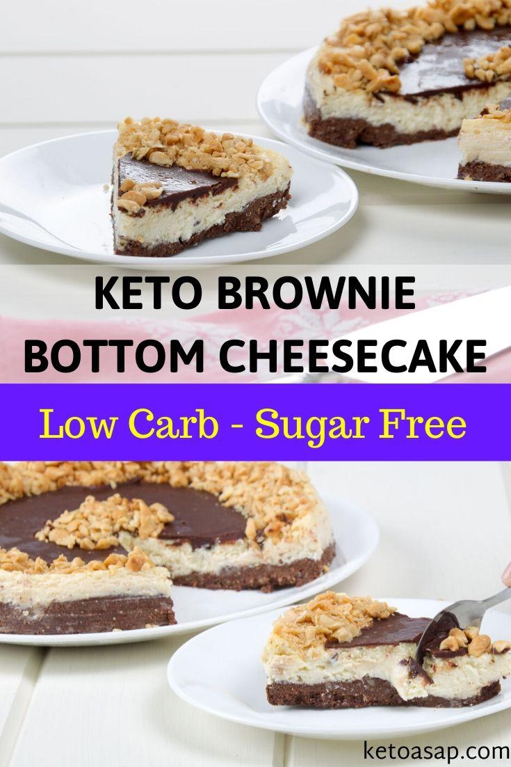sugar free brownie bottom cheesecake