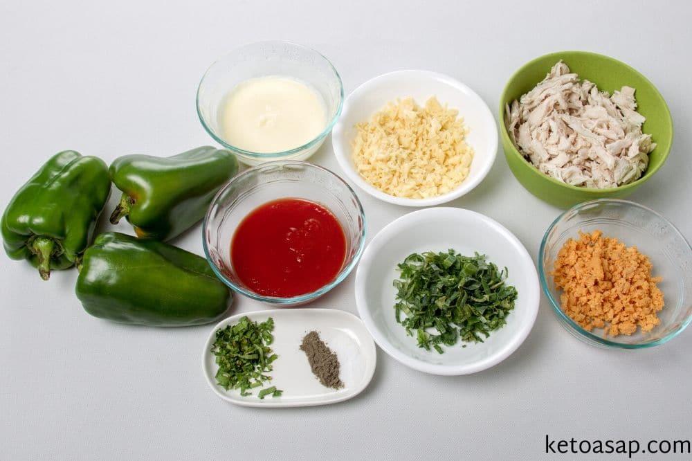 wash peppers prepare ingredients