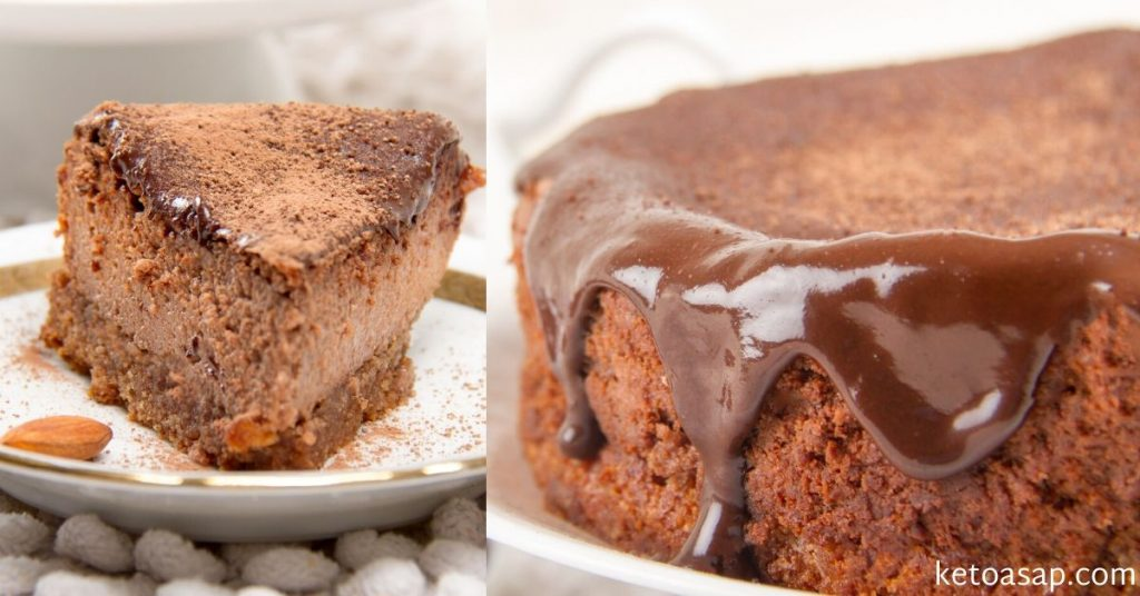 chocolate cheesecake almond crust