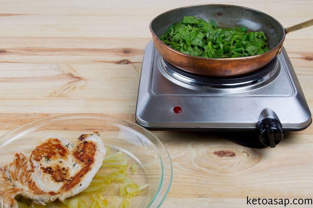 cook spinach lemon butter chicken