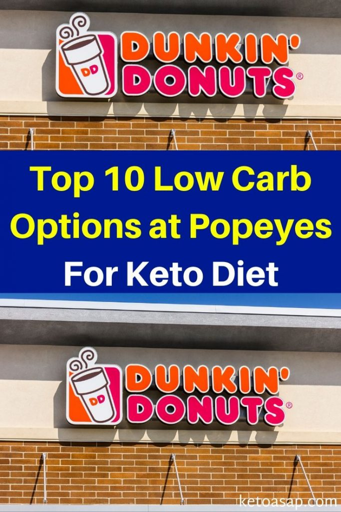 dunkin donuts low carb options