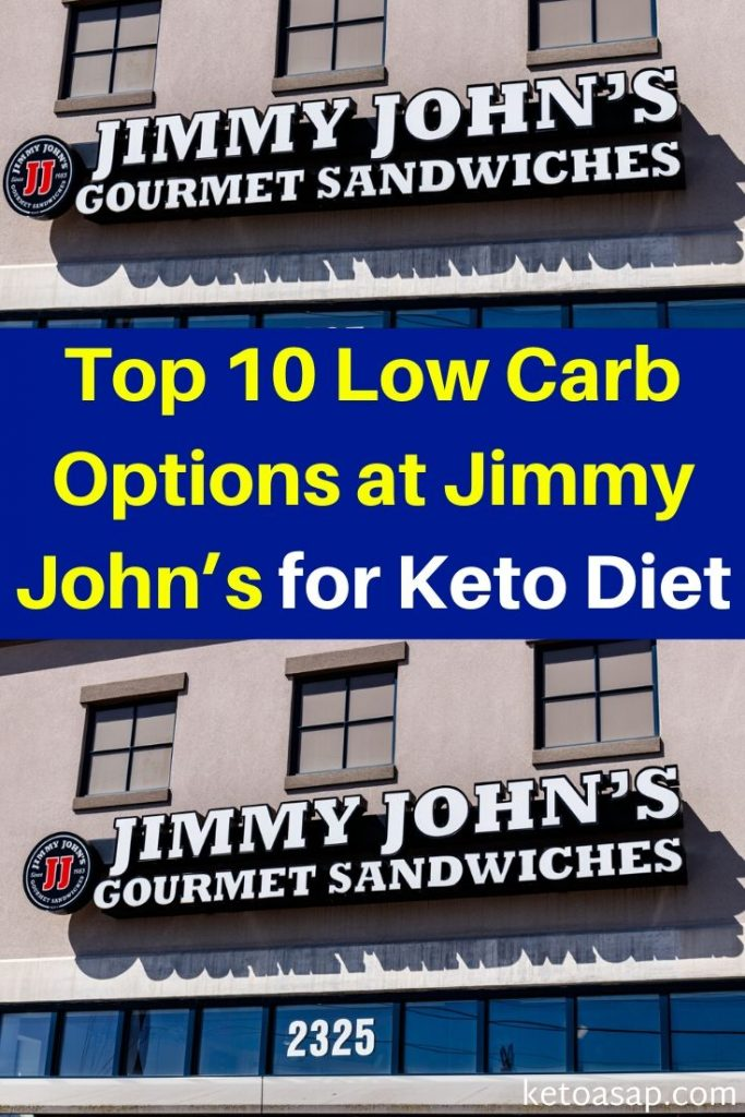 jimmy johns low carb options