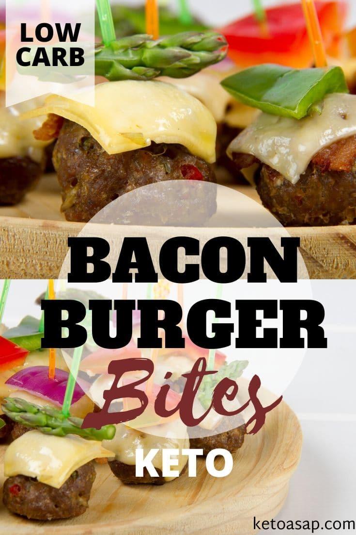 keto bacon burger bites
