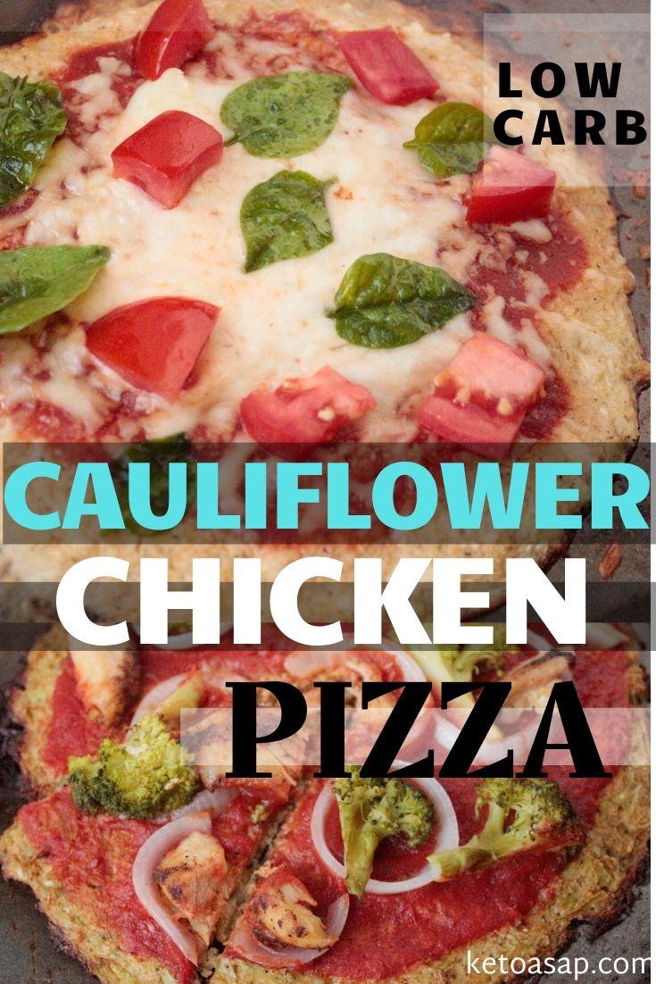 Keto Cauliflower Crust Chicken Pizza