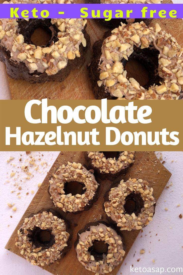 keto chocolate hazelnut donuts