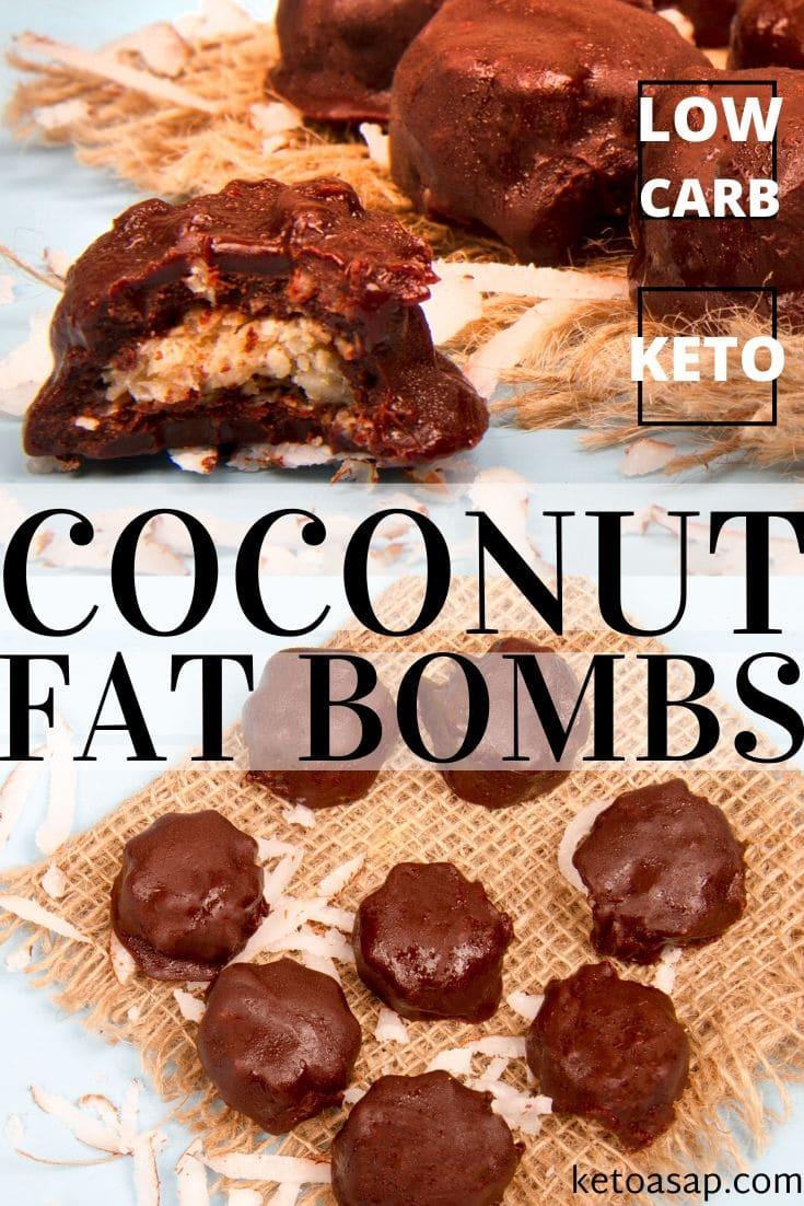 keto coconut chocolate fat bombs