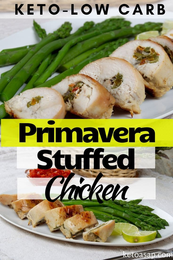 keto primavera stuffed chicken