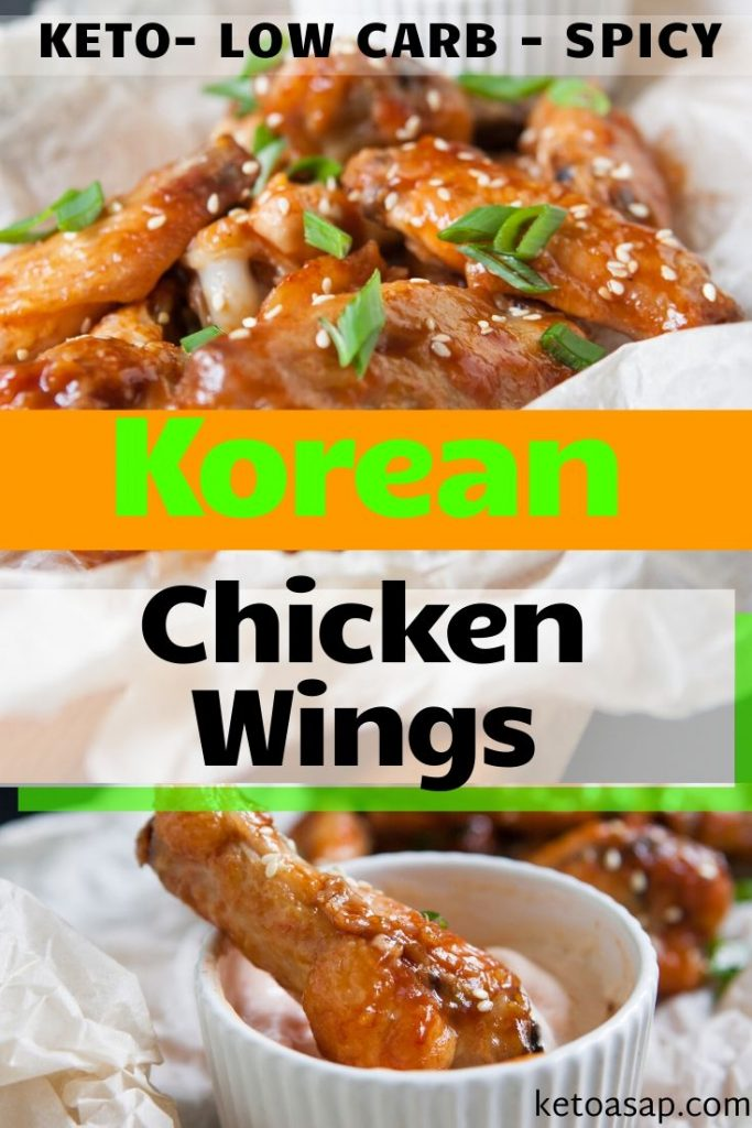 keto spicy korean chicken wings