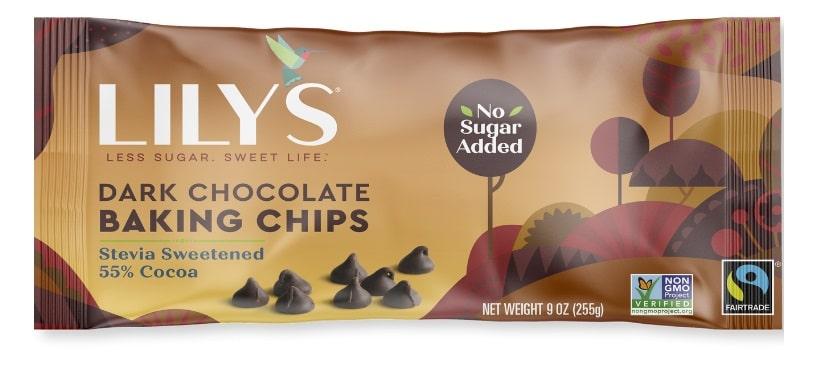 lilys dark baking chocolate chips