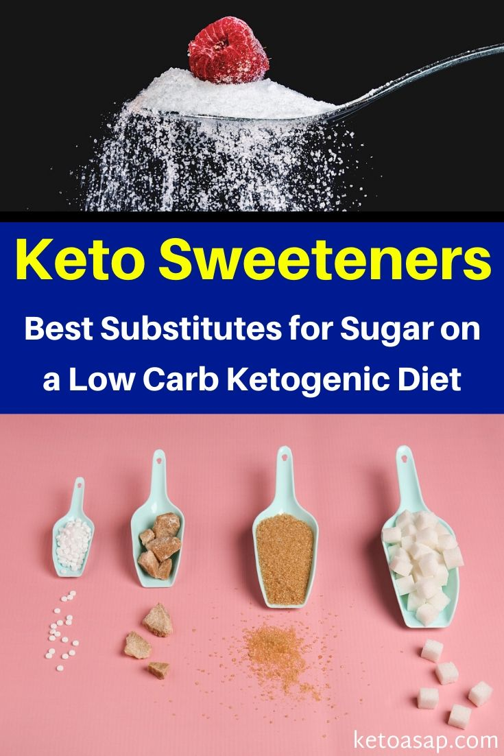 Top 11 Substitutes for Sugar on a Low Carb Ketogenic Diet #ketosweeteners #lowcarbsweeteners #keto #lowcarb #ketodiet