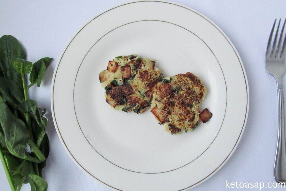 serve cauliflower hash browns