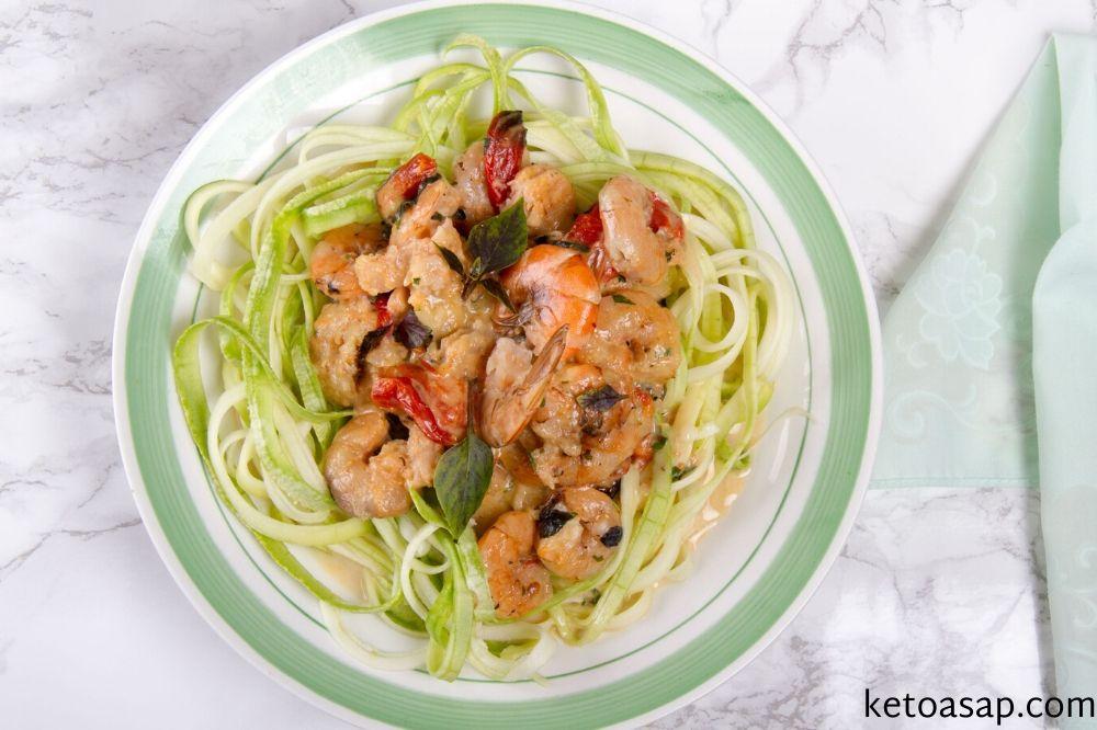 serve creamy tuscan shrimp