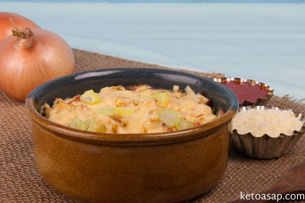 serve loaded cauliflower casserole
