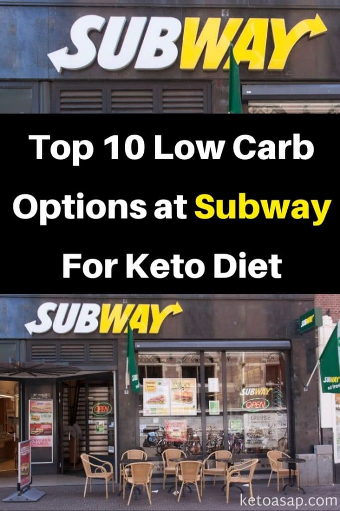 low carb at subway